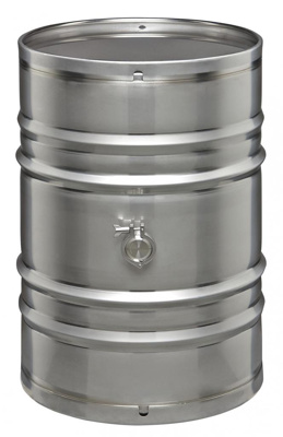 Seamless Stainless Drum - 55 Gal